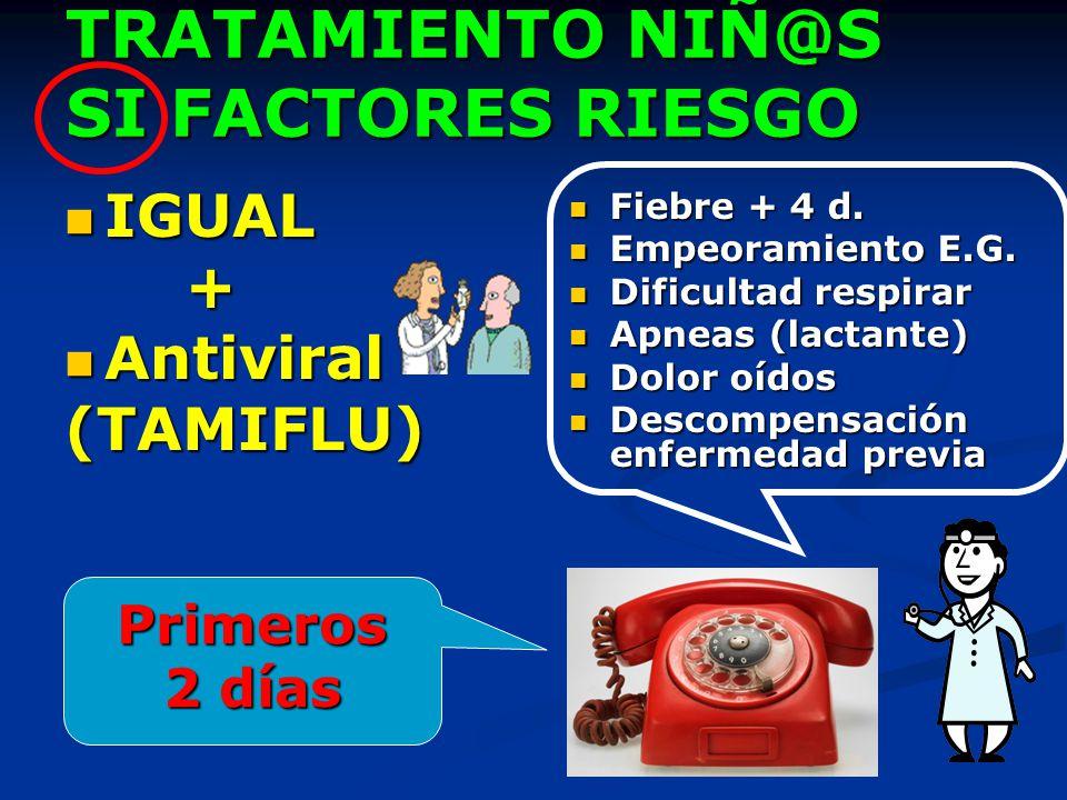 TRATAMIENTO NIÑ@S SI FACTORES RIESGO