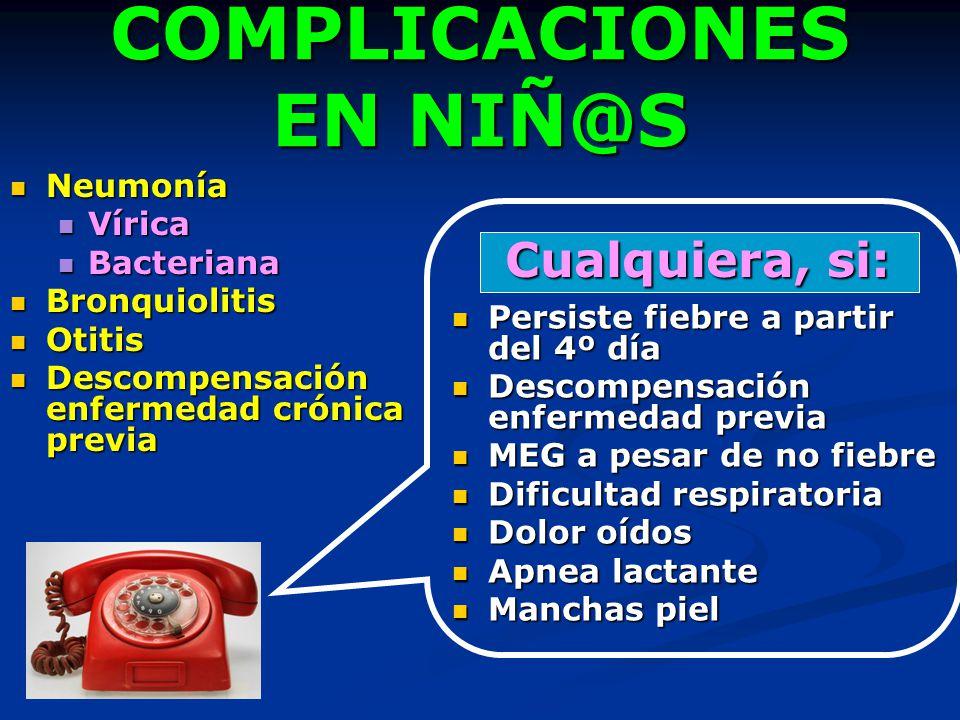 COMPLICACIONES EN NIÑ@S
