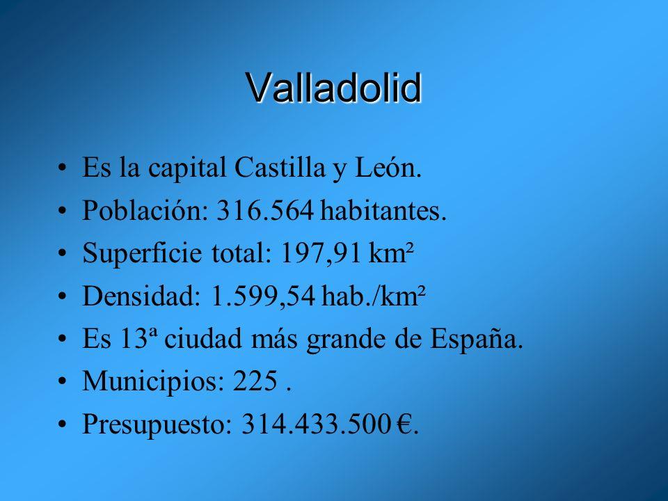 Valladolid Es la capital Castilla y León.