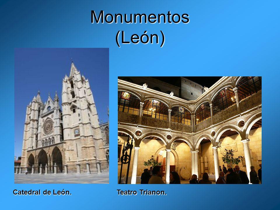 Monumentos (León) Catedral de León. Teatro Trianon.