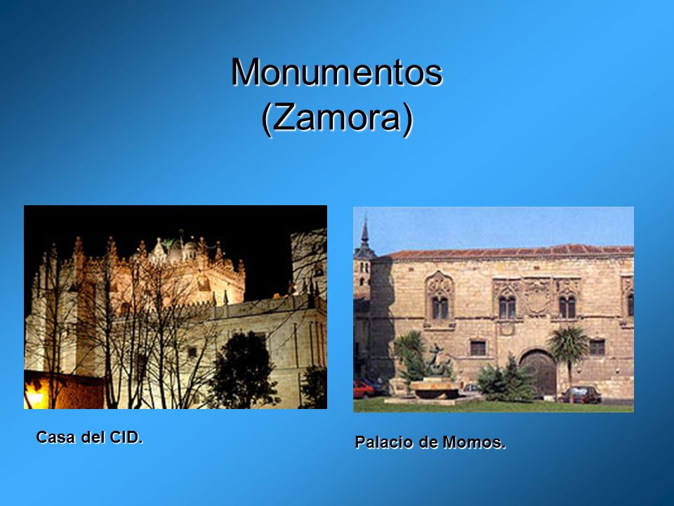 Monumentos (Zamora) Casa del CID. Palacio de Momos.