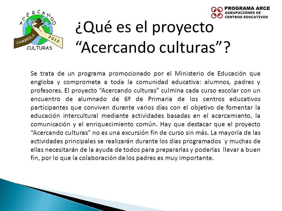 ¿Qué es el proyecto Acercando culturas
