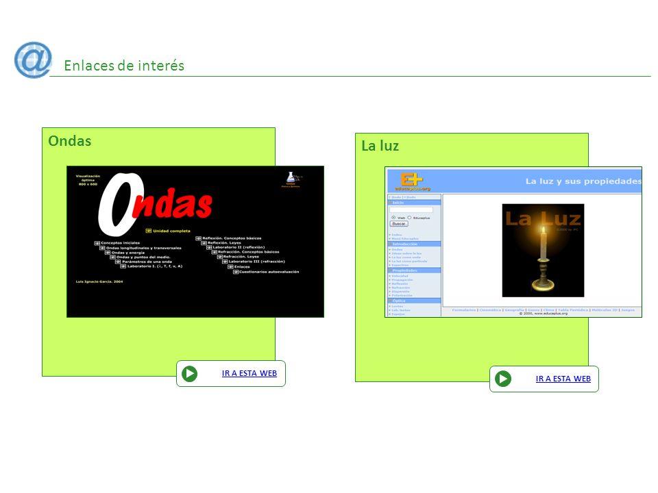Enlaces de interés Ondas IR A ESTA WEB La luz IR A ESTA WEB