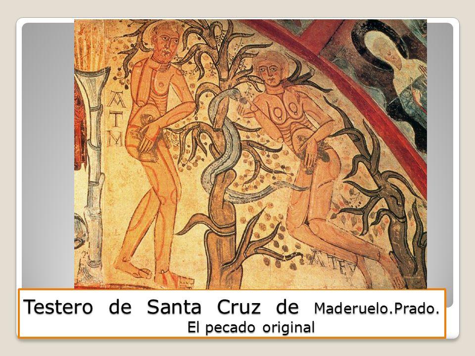Testero de Santa Cruz de Maderuelo.Prado. El pecado original