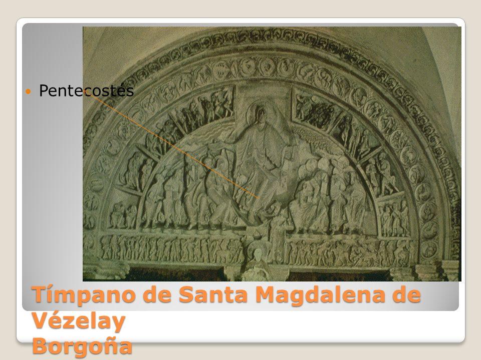 Tímpano de Santa Magdalena de Vézelay Borgoña