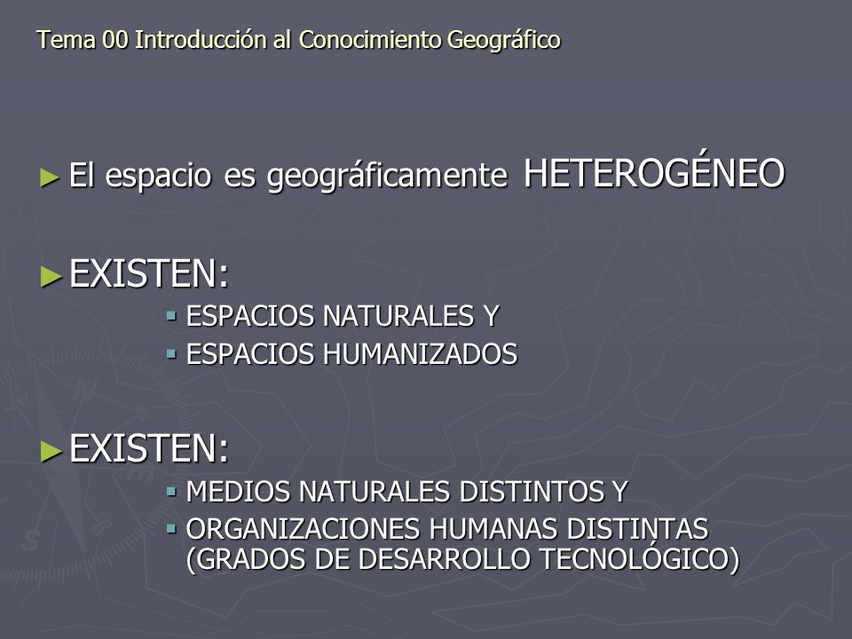 Tema 00 Introducción al Conocimiento Geográfico