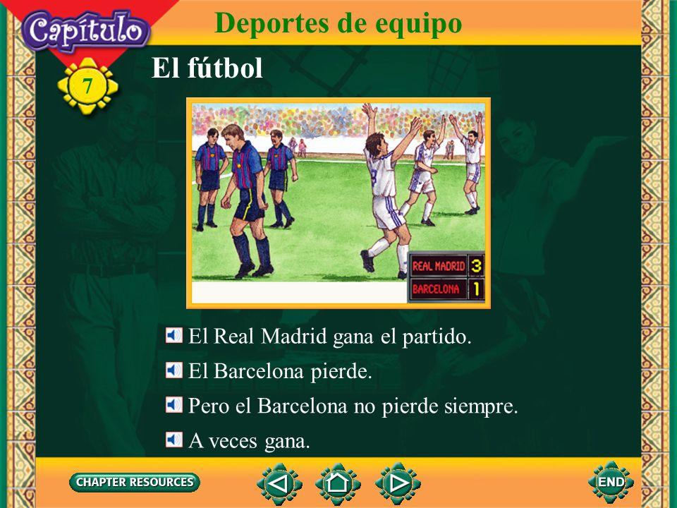 Deportes de equipo El fútbol 7 El Real Madrid gana el partido.