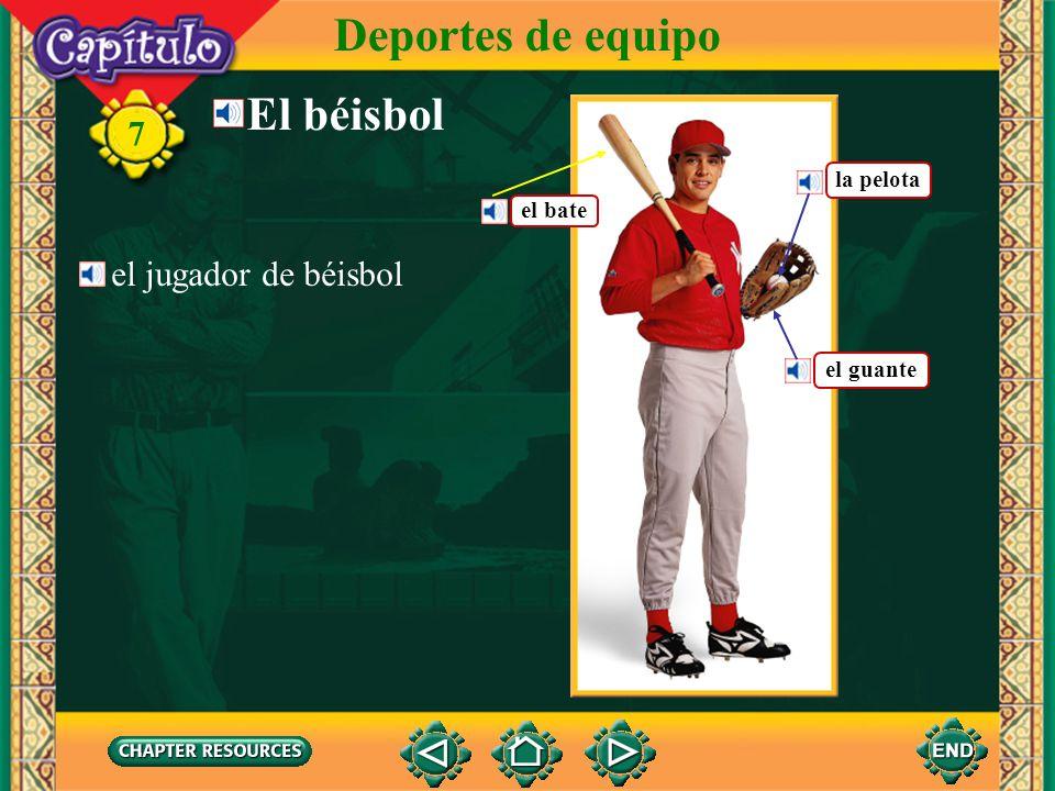 Deportes de equipo El béisbol 7 el jugador de béisbol la pelota