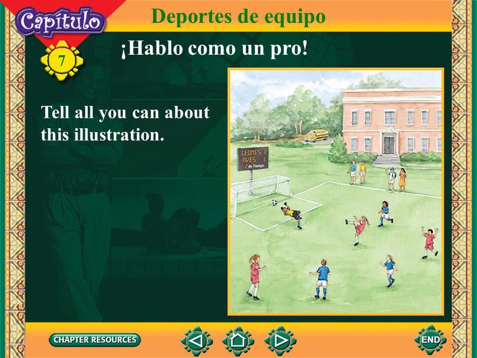 Deportes de equipo ¡Hablo como un pro!
