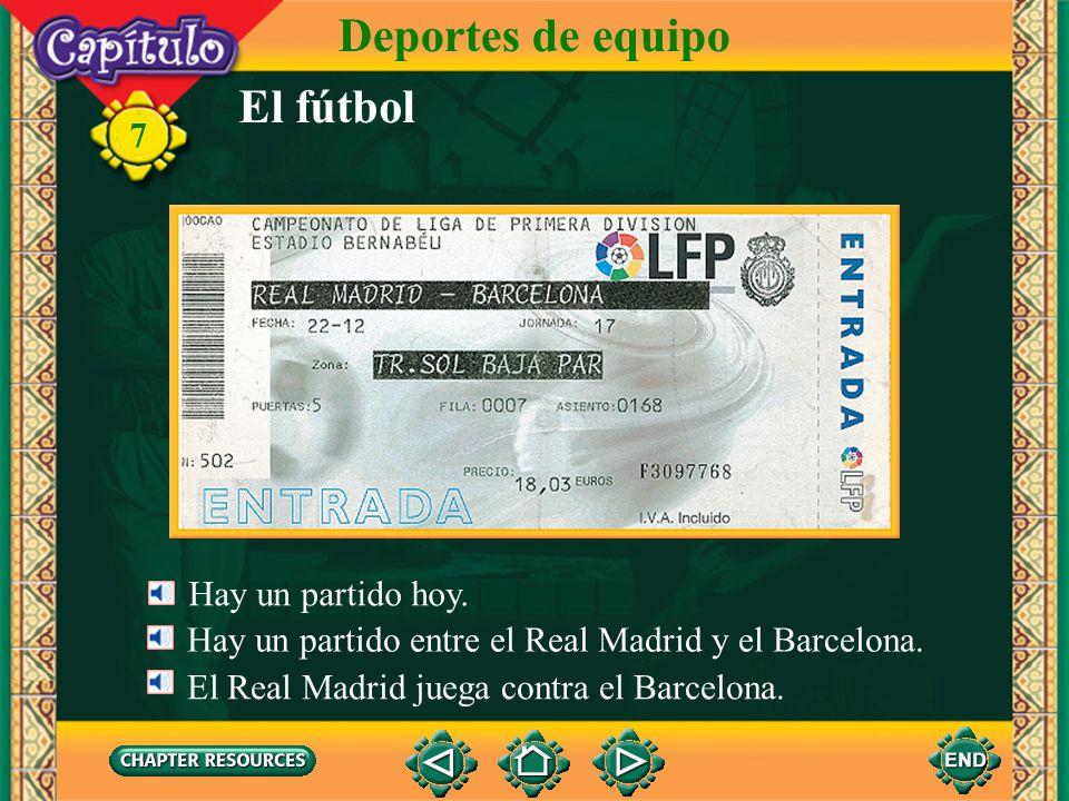 Deportes de equipo El fútbol 7 Hay un partido hoy.