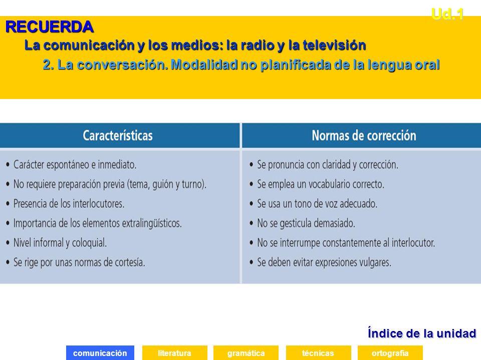 La comunicación y los medios: la radio y la televisión