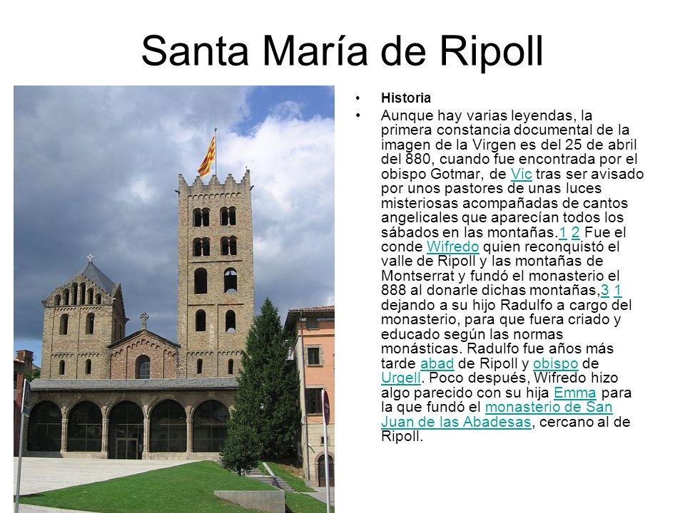 Santa María de Ripoll Historia.