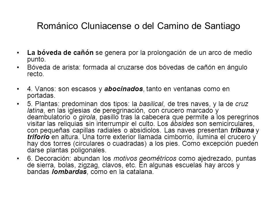 Románico Cluniacense o del Camino de Santiago