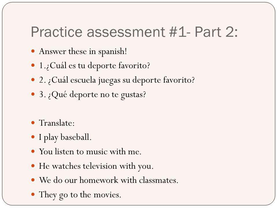 Practice assessment #1- Part 2:
