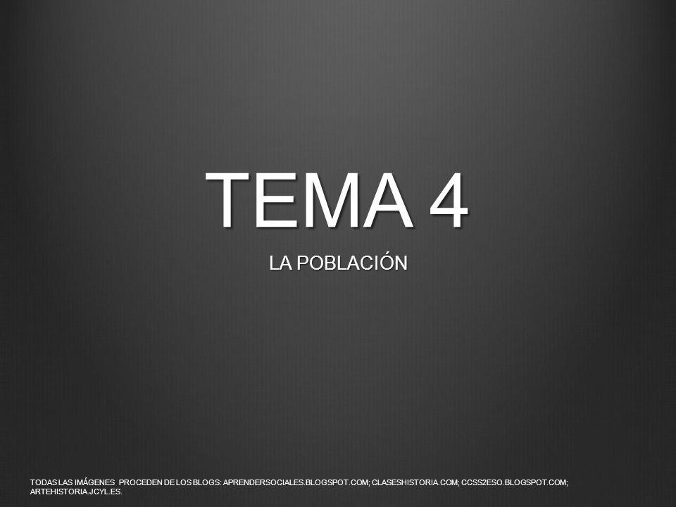 TEMA 4 LA POBLACIÓN.