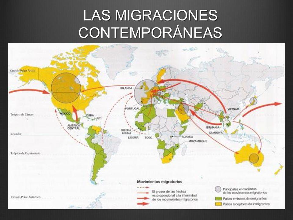 LAS MIGRACIONES CONTEMPORÁNEAS