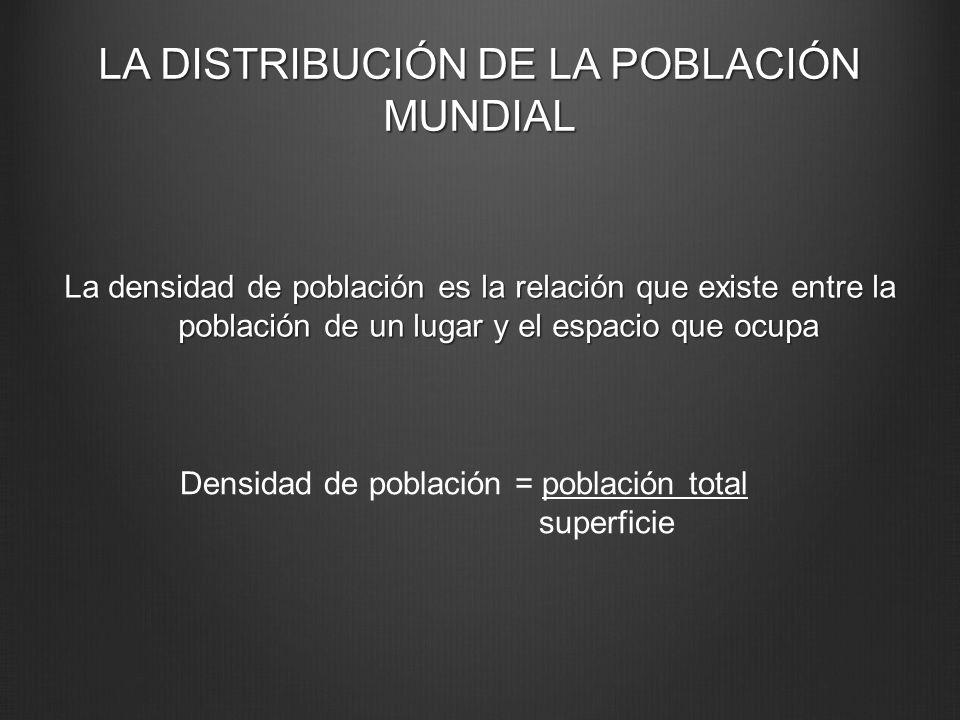 LA DISTRIBUCIÓN DE LA POBLACIÓN MUNDIAL