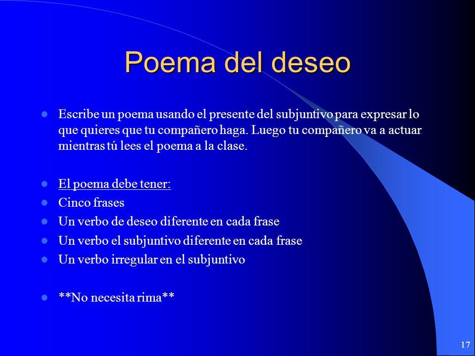 Poema del deseo