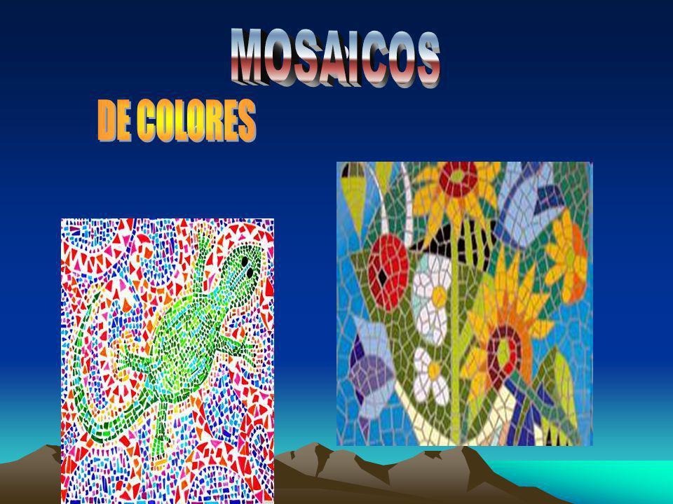 P MOSAICOS DE COLORES O