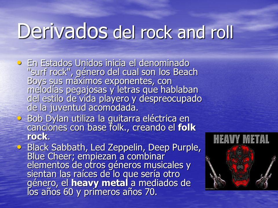 Derivados del rock and roll