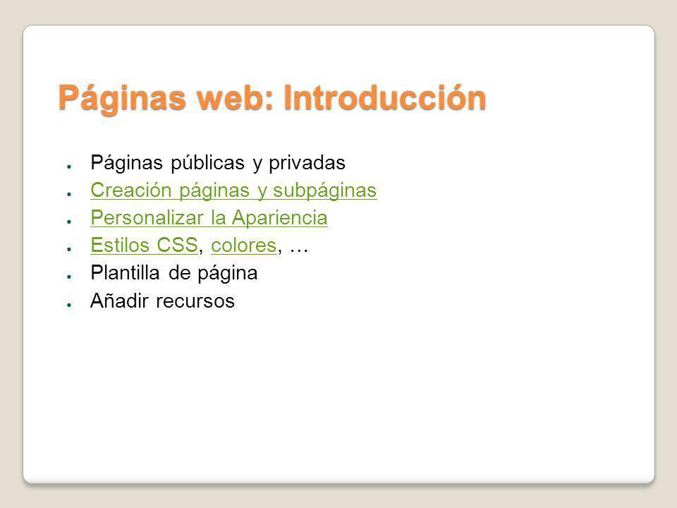 Páginas web: Introducción