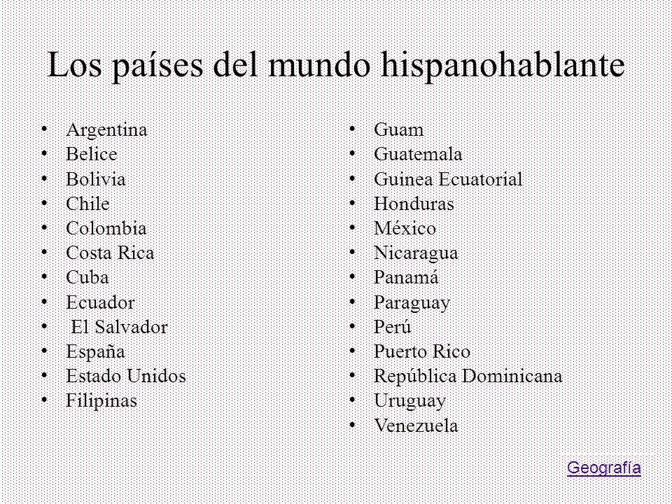 Los países del mundo hispanohablante