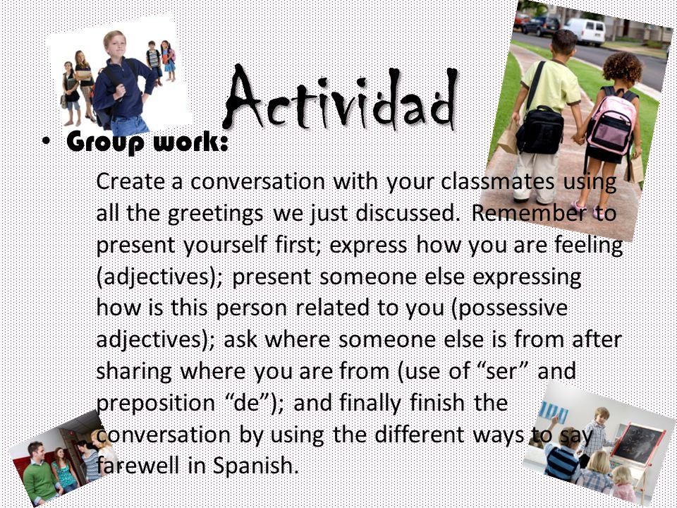 Actividad Group work: