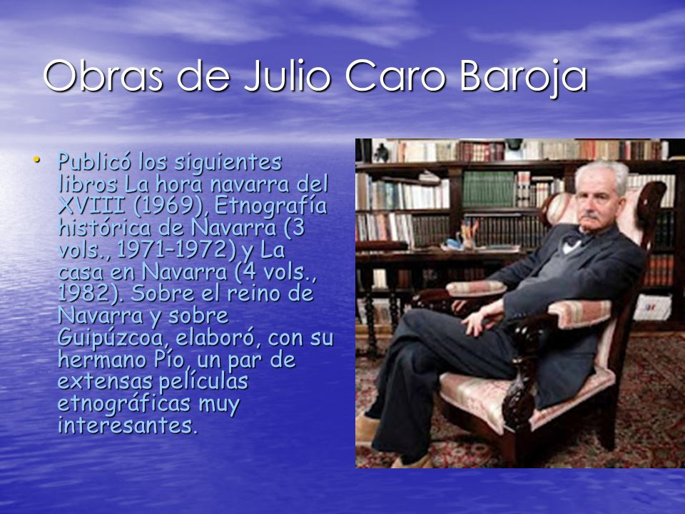 Obras de Julio Caro Baroja