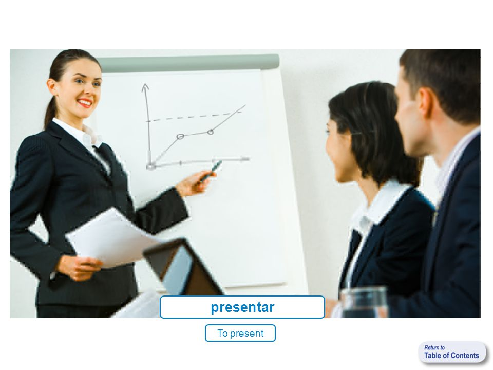 presentar To present