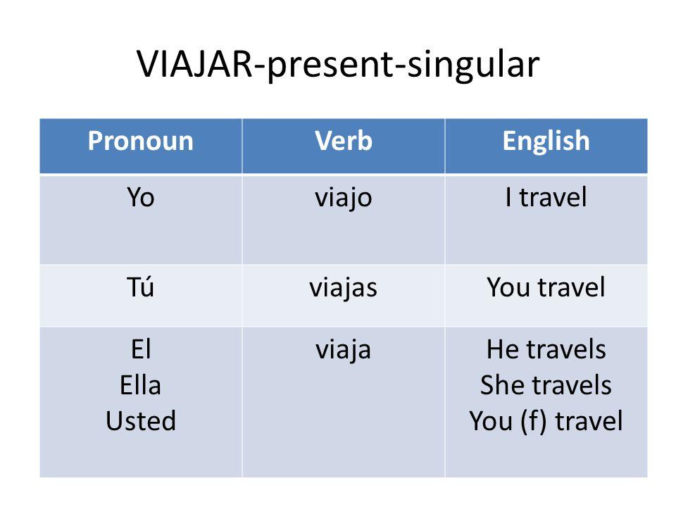 VIAJAR-present-singular