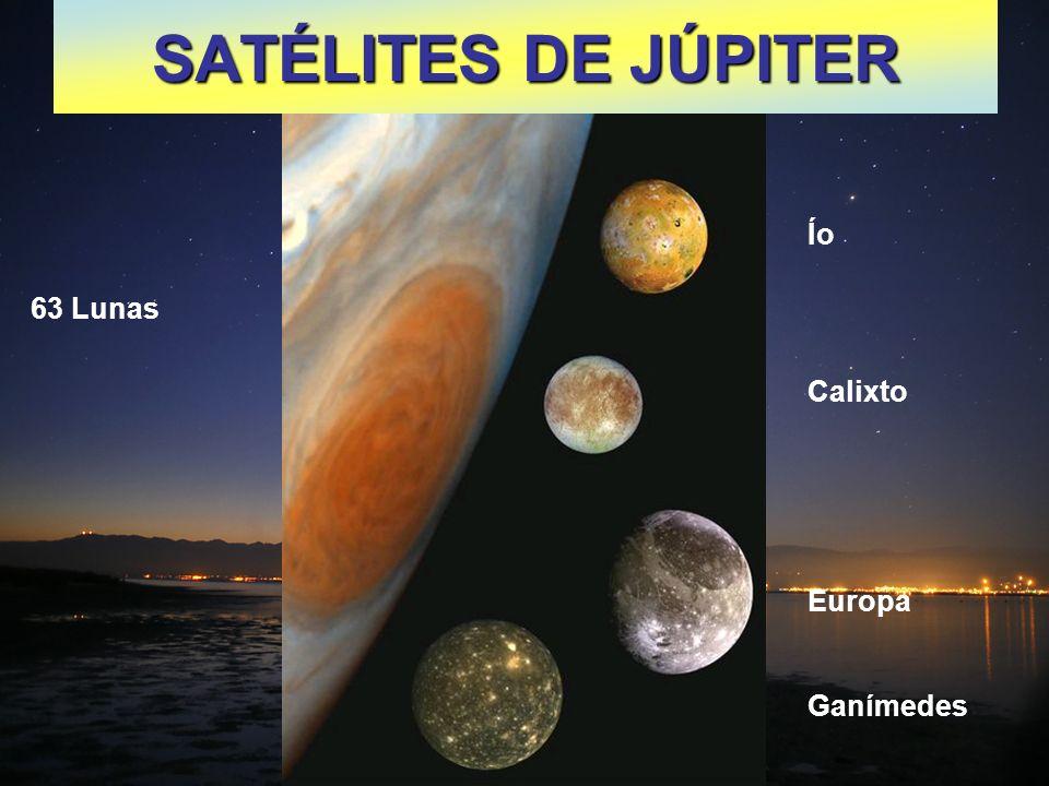 SATÉLITES DE JÚPITER Ío Calixto Europa Ganímedes 63 Lunas