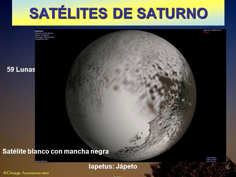 SATÉLITES DE SATURNO 59 Lunas Satélite blanco con mancha negra
