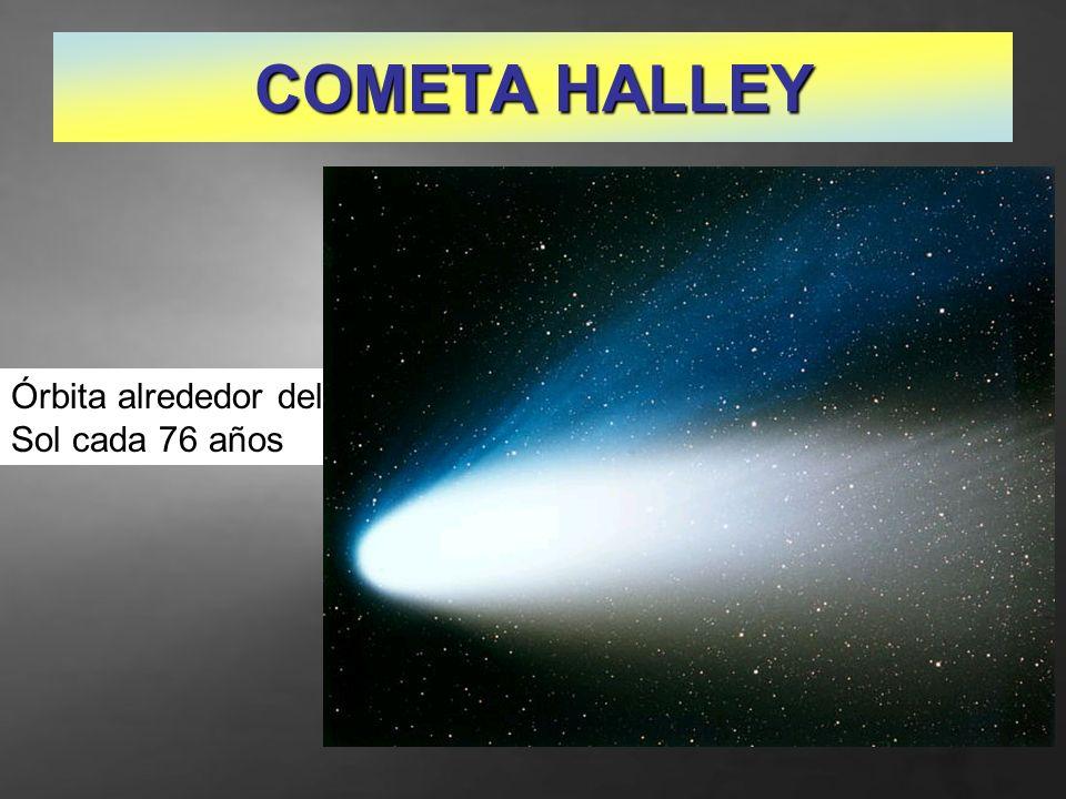 COMETA HALLEY Órbita alrededor del Sol cada 76 años