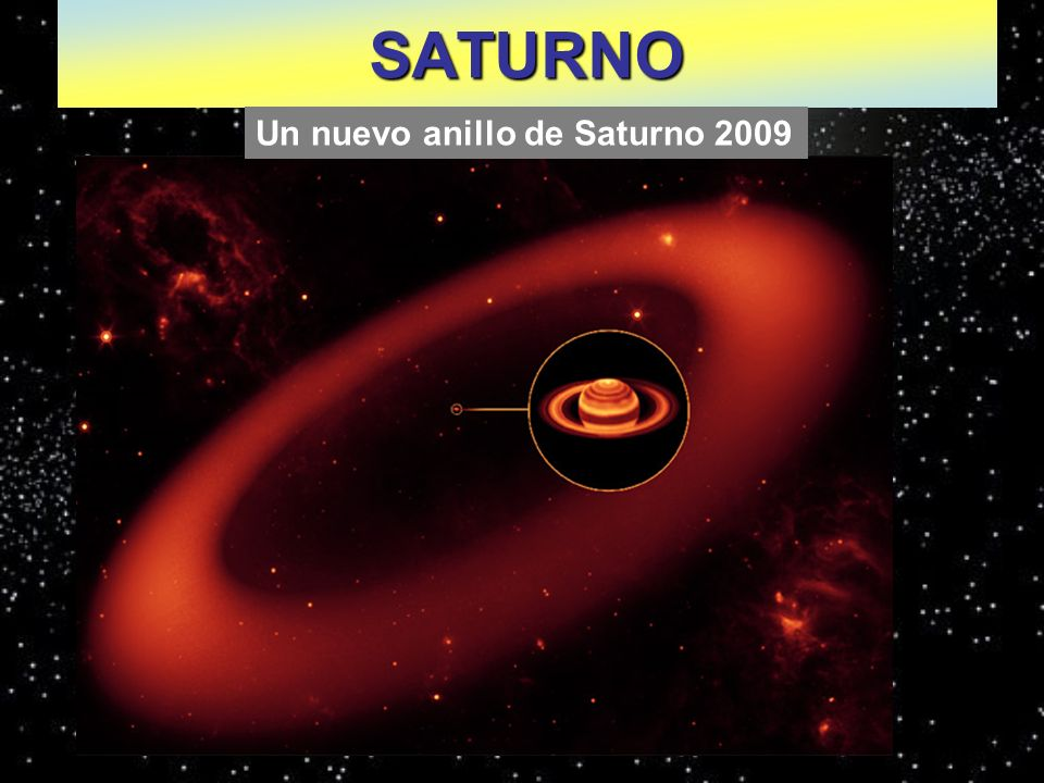 SATURNO Un nuevo anillo de Saturno 2009
