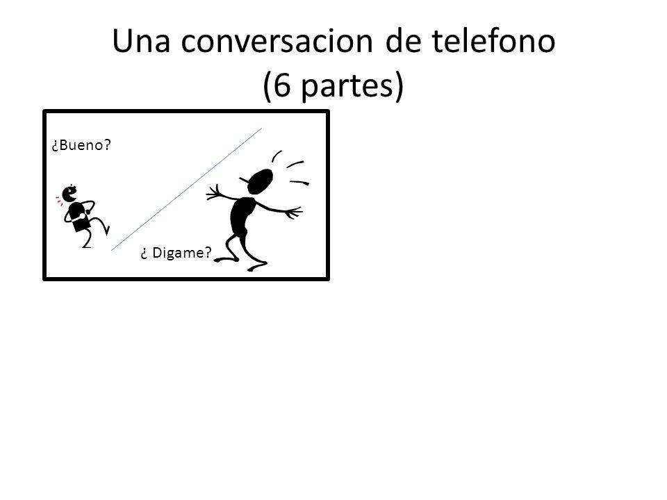 Una conversacion de telefono (6 partes)