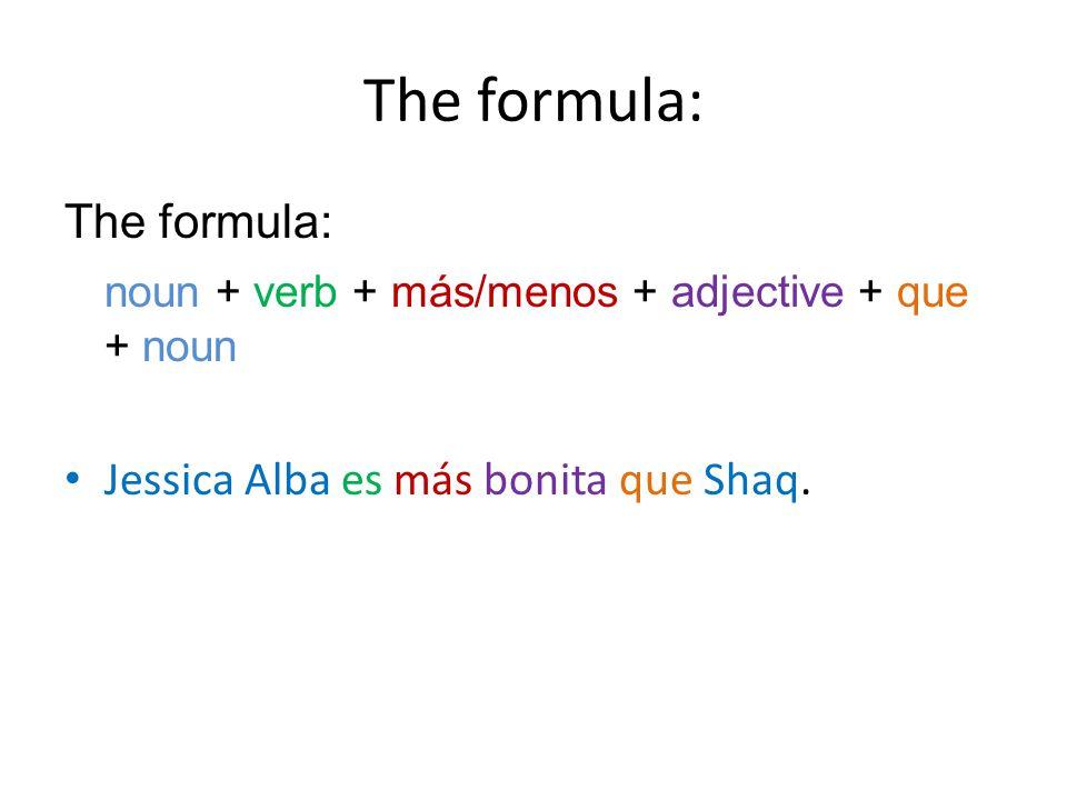 The formula: The formula: