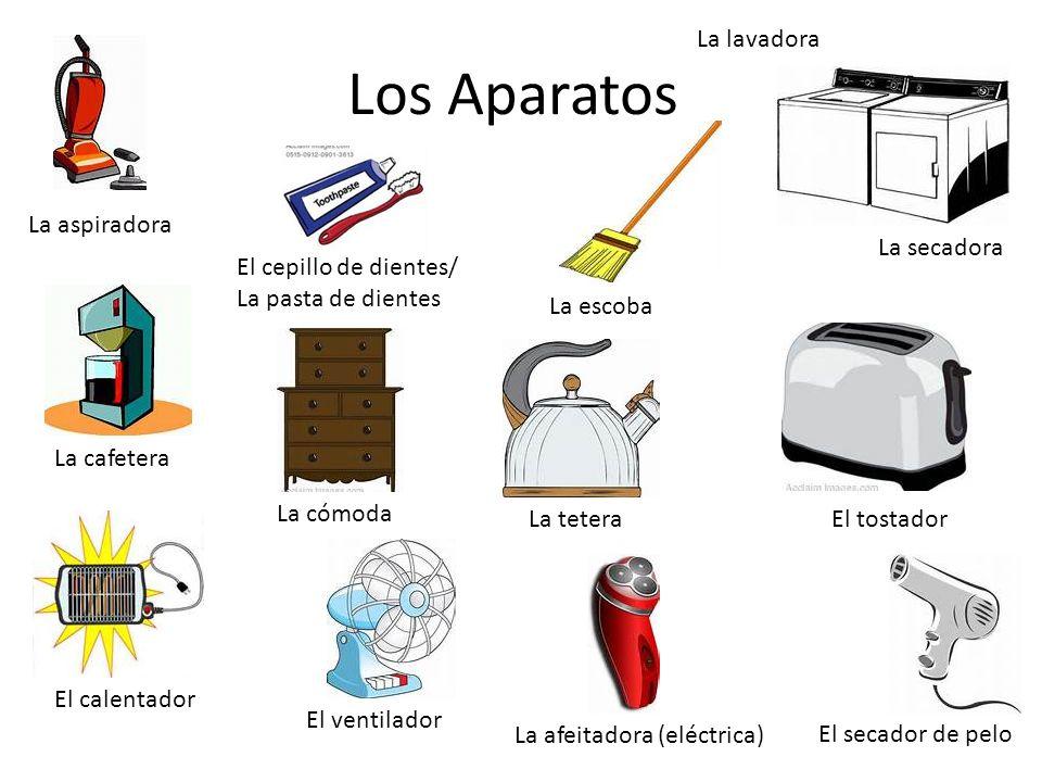 Los Aparatos La lavadora La aspiradora La secadora