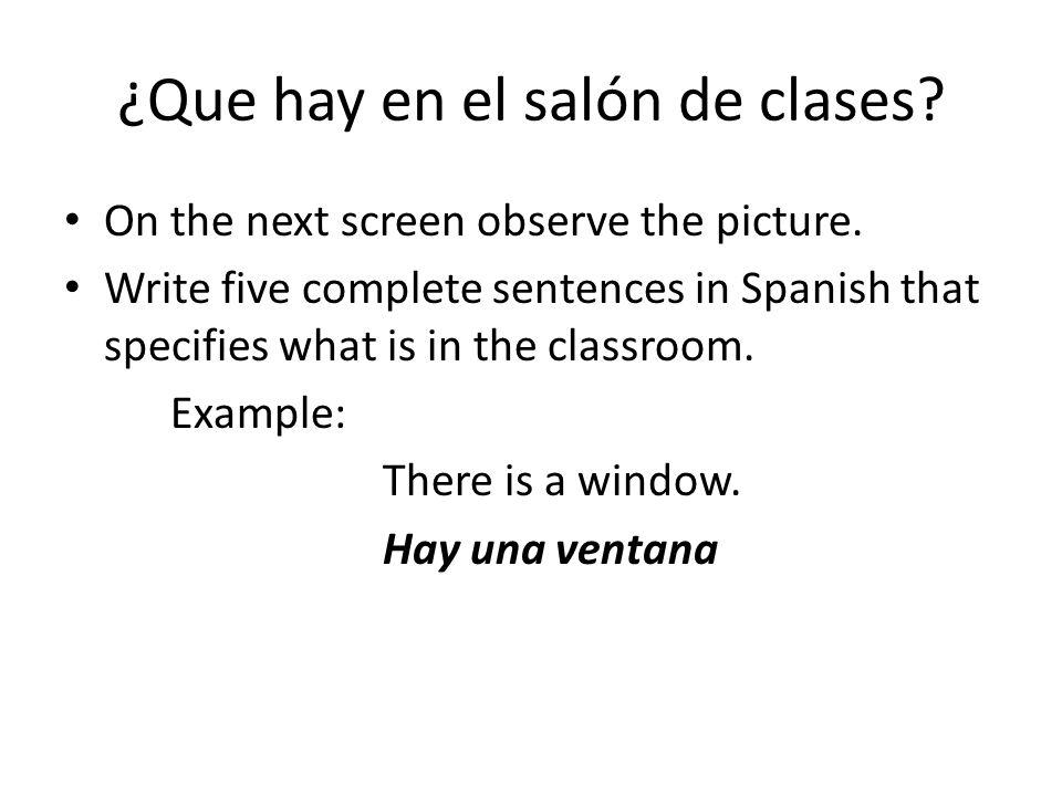 ¿Que hay en el salón de clases