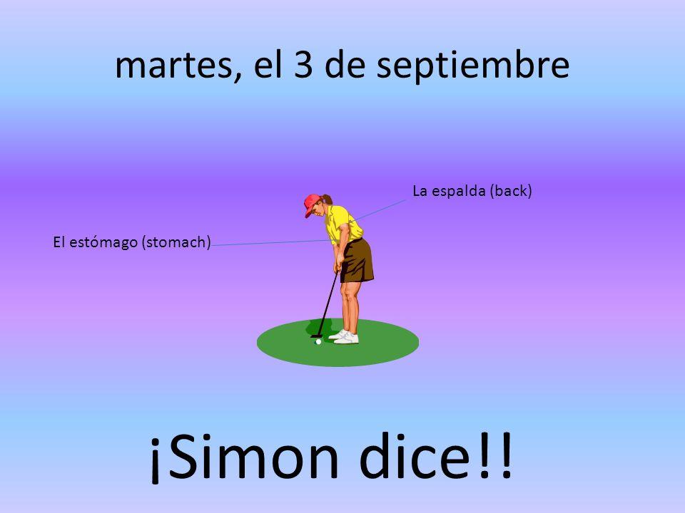 martes, el 3 de septiembre