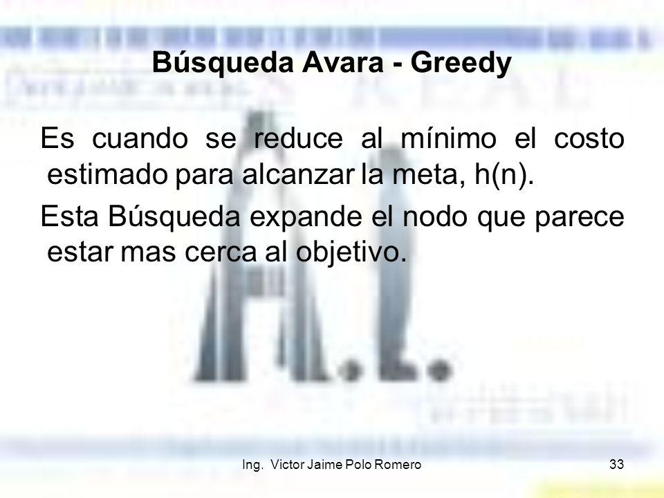 Búsqueda Avara - Greedy