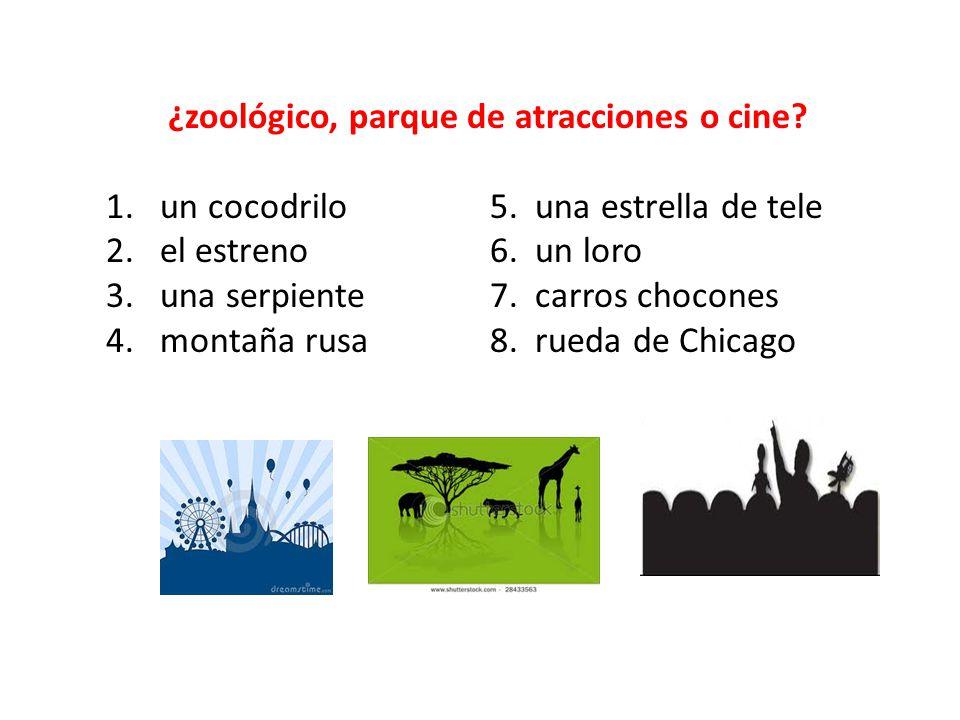 ¿zoológico, parque de atracciones o cine