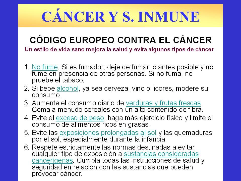 CÁNCER Y S. INMUNE