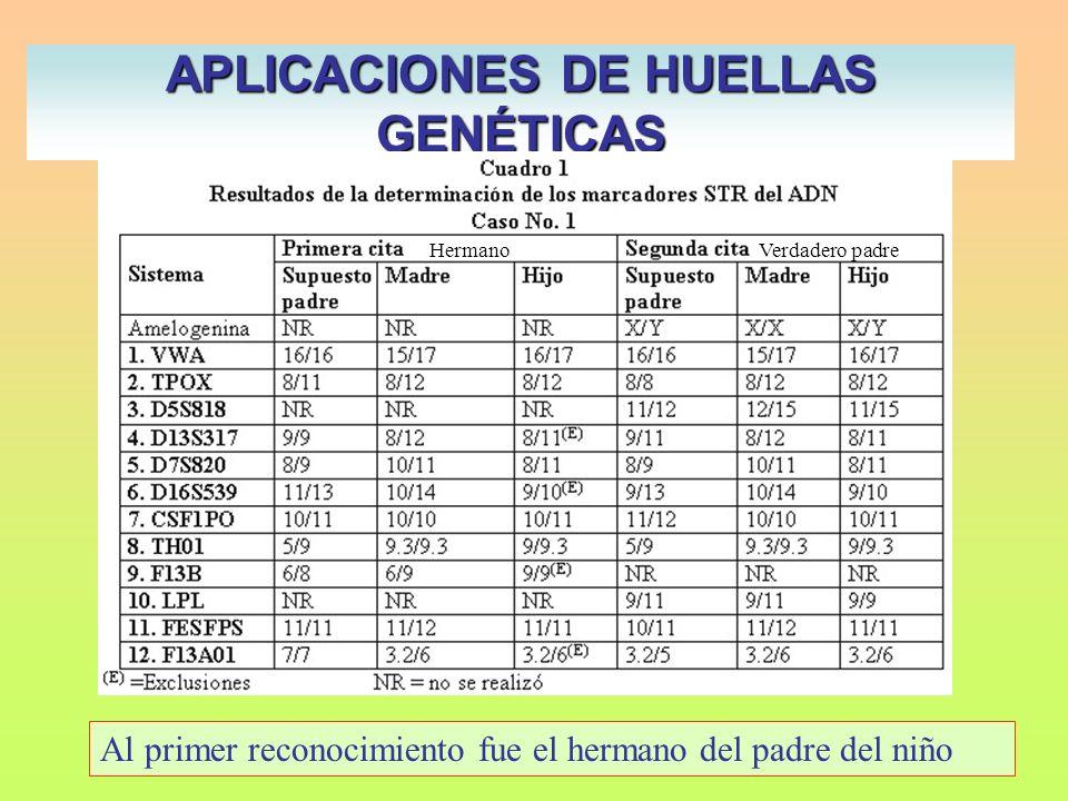 APLICACIONES DE HUELLAS GENÉTICAS