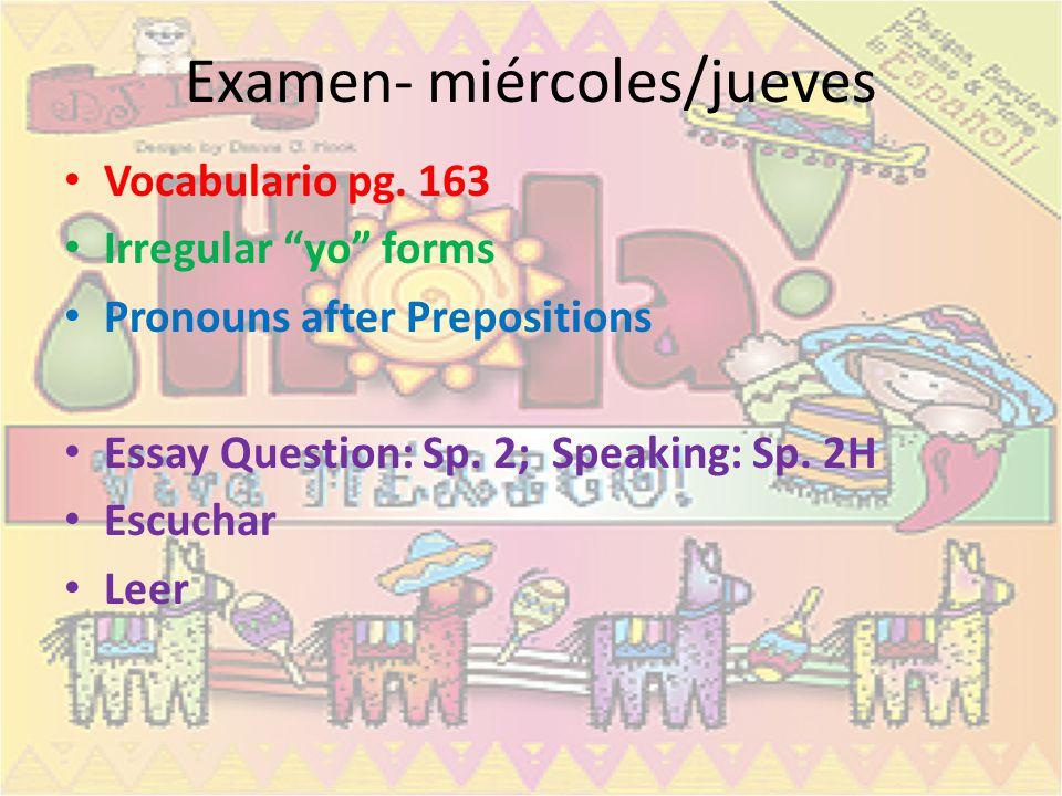 Examen- miércoles/jueves