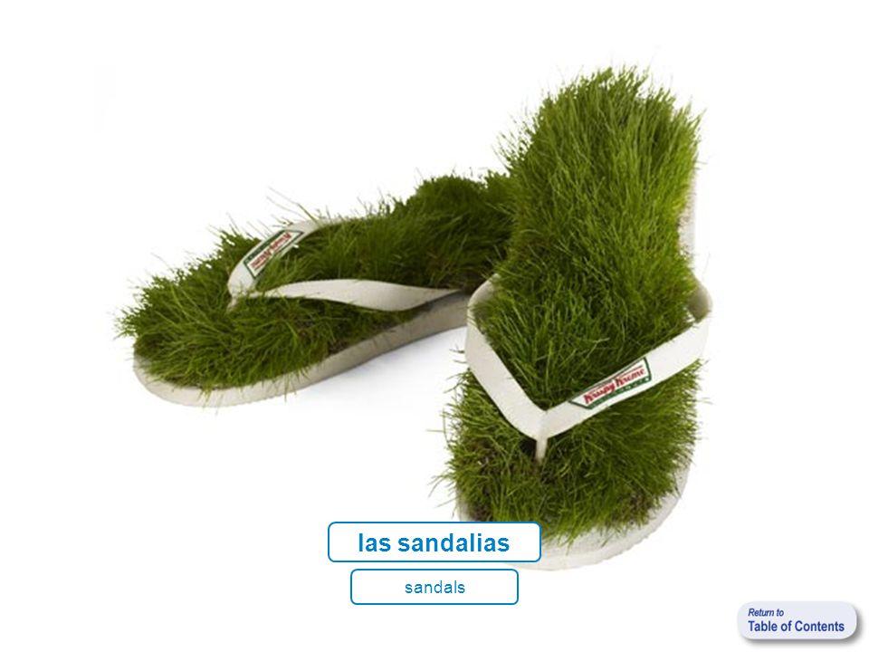 las sandalias sandals