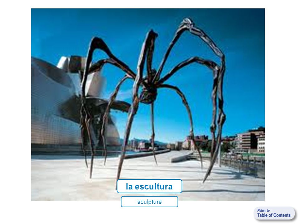 la escultura sculpture