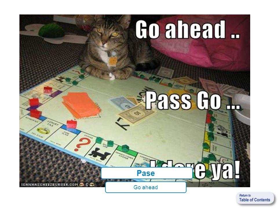 Pase Go ahead