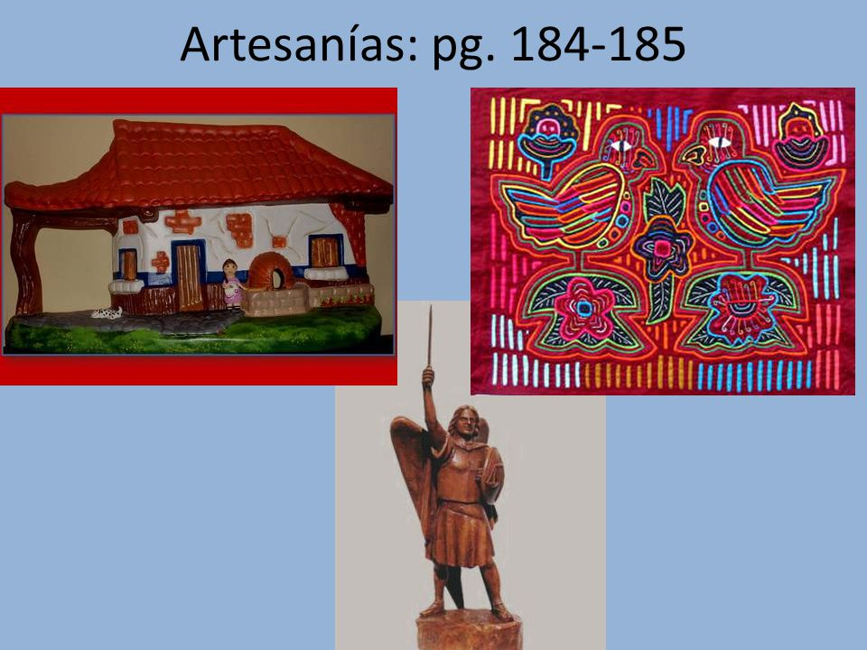 Artesanías: pg. 184-185
