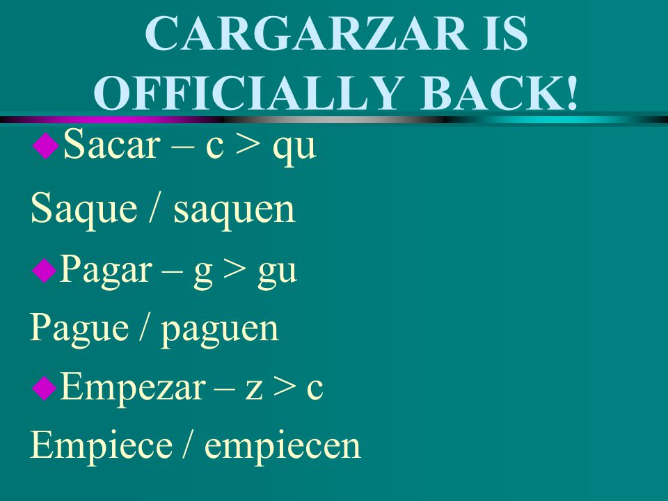 CARGARZAR IS OFFICIALLY BACK!