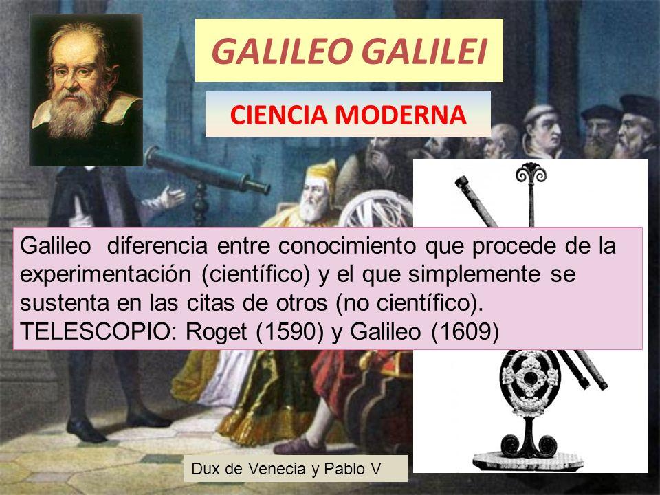 GALILEO GALILEI CIENCIA MODERNA